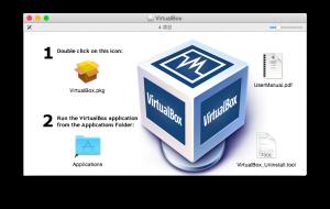 Virtual Box pkgファイル