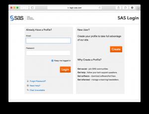 SASユーザー登録